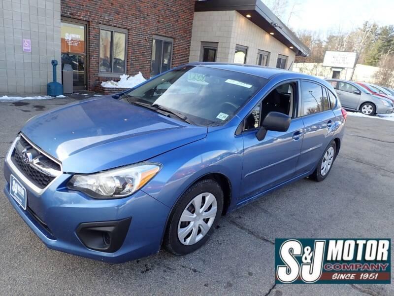 2014 Subaru Impreza for sale at S & J Motor Co Inc. in Merrimack NH