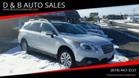 2015 Subaru Outback for sale at D & B AUTO SALES in Somerset PA
