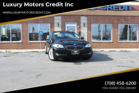 2013 BMW 5 Series for sale at Luxury Motors Credit Inc in Bridgeview IL
