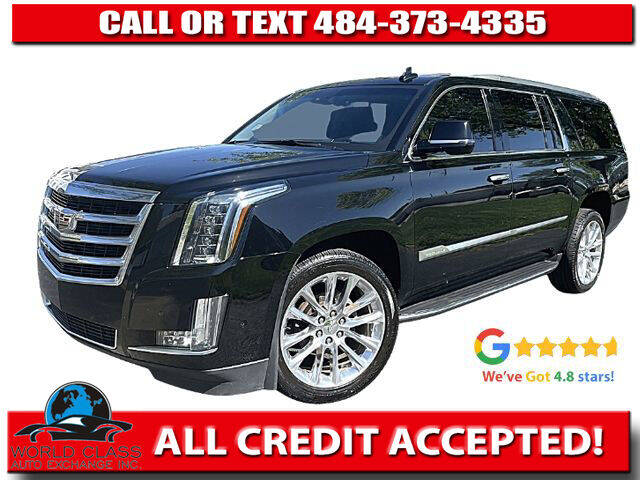 2018 Cadillac Escalade ESV for sale at World Class Auto Exchange in Lansdowne PA