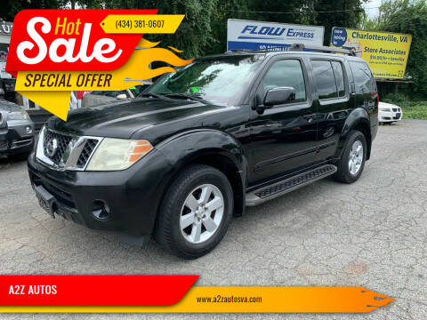2008 Nissan Pathfinder for sale at A2Z AUTOS in Charlottesville VA