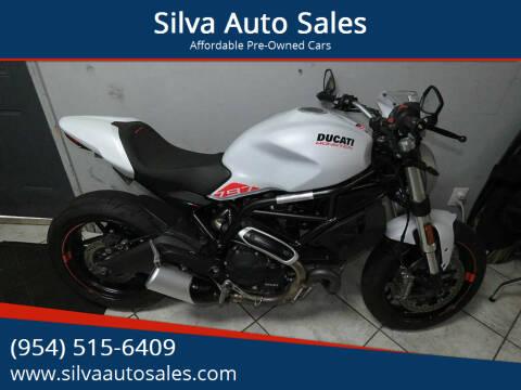 2019 Ducati Monster 797 for sale at Silva Auto Sales in Pompano Beach FL