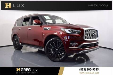 2020 Infiniti QX80 for sale at HGREG LUX EXCLUSIVE MOTORCARS in Pompano Beach FL