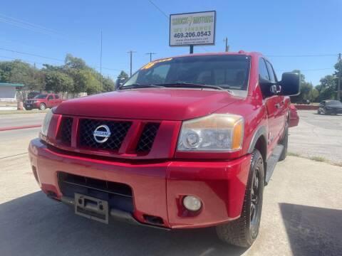 2010 Nissan Titan for sale at Shock Motors in Garland TX