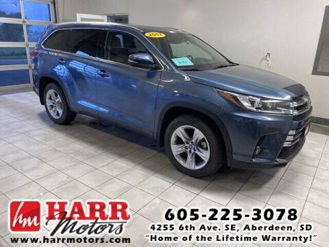 2017 Toyota Highlander for sale at Harr's Redfield Ford in Redfield SD