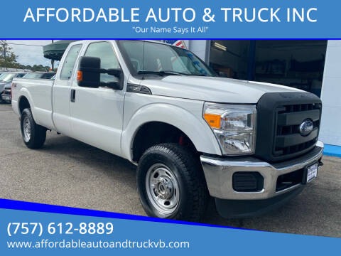2016 Ford F-250 Super Duty for sale at AFFORDABLE AUTO & TRUCK INC in Virginia Beach VA