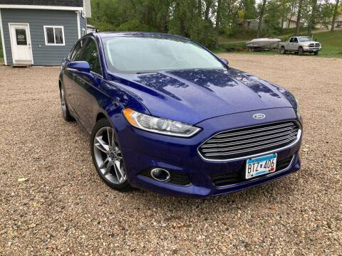 2013 Ford Fusion for sale at MINNESOTA CAR SALES in Starbuck MN