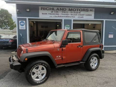 2009 Jeep Wrangler for sale at Richland Motors in Cleveland OH