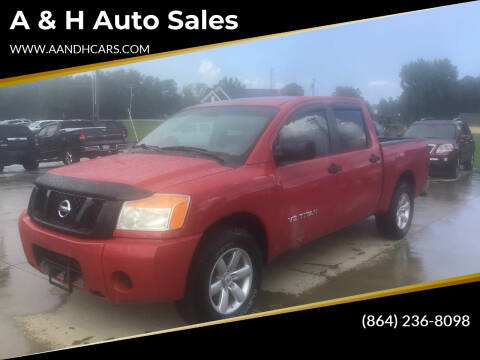 2011 Nissan Titan for sale at A & H Auto Sales in Greenville SC