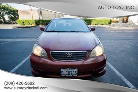 2005 Toyota Corolla for sale at Auto Toyz Inc in Lodi CA