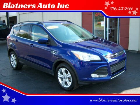 2016 Ford Escape for sale at Blatners Auto Inc in North Tonawanda NY