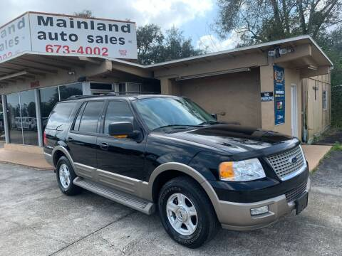 2004 Ford Expedition for sale at Mainland Auto Sales Inc in Daytona Beach FL