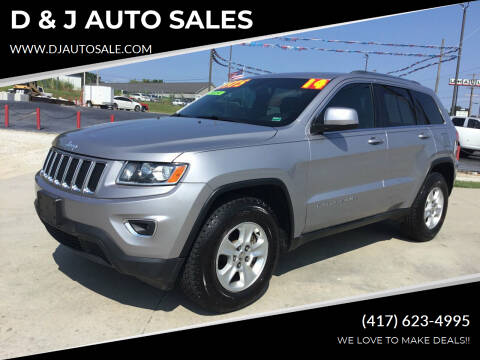 2014 Jeep Grand Cherokee for sale at D & J AUTO SALES in Joplin MO
