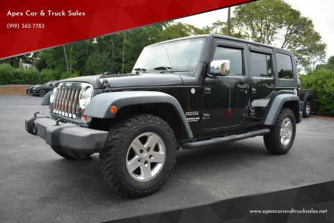 2010 Jeep Wrangler Unlimited for sale at Apex Car & Truck Sales in Apex NC