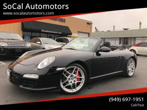 2009 Porsche 911 for sale at SoCal Auto Motors in Costa Mesa CA