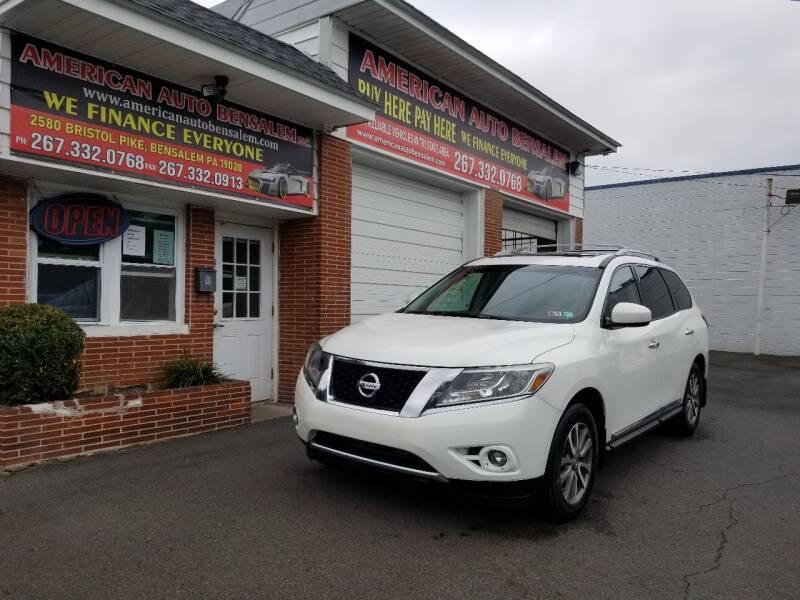2013 Nissan Pathfinder for sale at American Auto Bensalem Inc in Bensalem PA