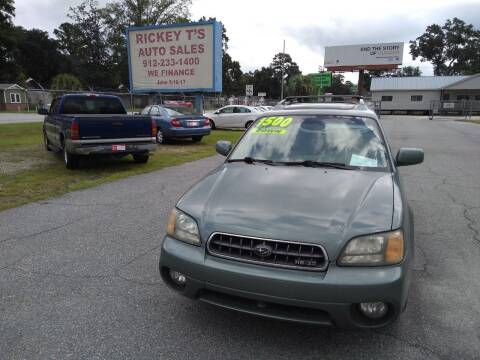 2004 Subaru Outback for sale at Rickey T's Auto Sales in Garden City GA