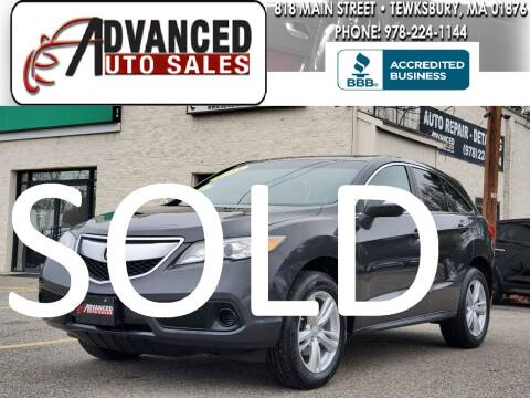 2013 Acura RDX for sale at Advanced Auto Sales in Tewksbury MA