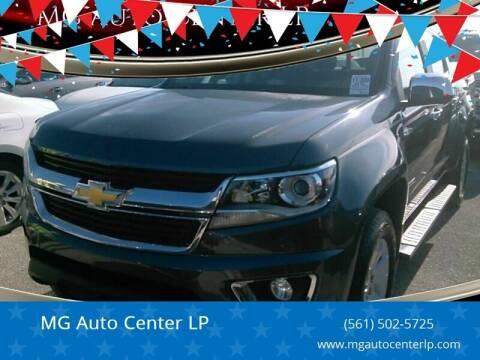 2016 Chevrolet Colorado for sale at MG Auto Center LP in Lake Park FL