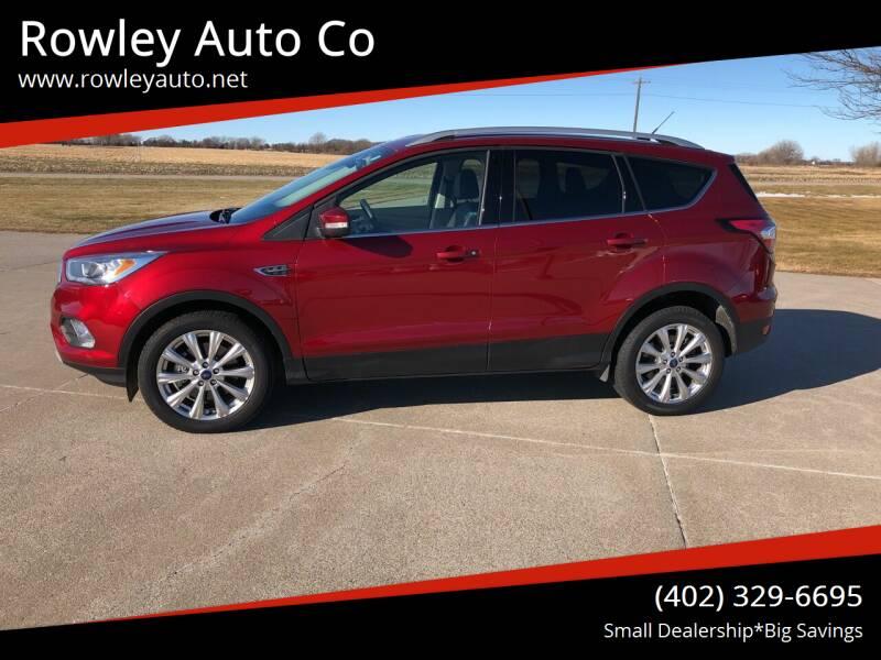 2017 Ford Escape for sale at Rowley Auto Co in Pierce NE