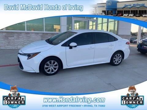 2021 Toyota Corolla for sale at DAVID McDAVID HONDA OF IRVING in Irving TX