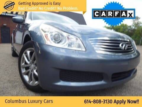 2009 Infiniti G37 Sedan for sale at Columbus Luxury Cars in Columbus OH