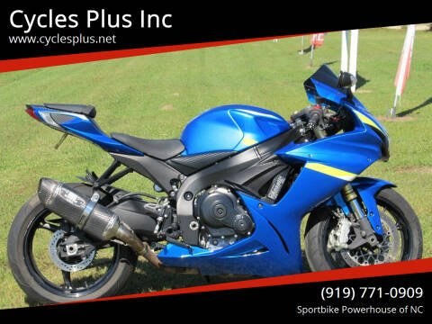 2013 Suzuki GSXR 750 for sale at Cycles Plus Inc in Garner NC