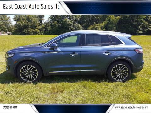 2019 Lincoln Nautilus for sale at East Coast Auto Sales llc in Virginia Beach VA