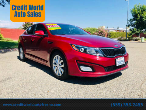 2015 Kia Optima for sale at Credit World Auto Sales in Fresno CA