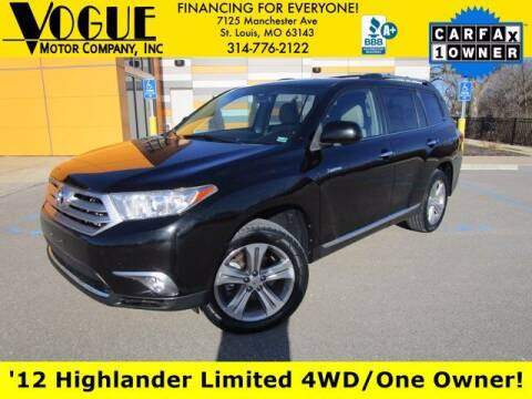 2012 Toyota Highlander for sale at Vogue Motor Company Inc in Saint Louis MO