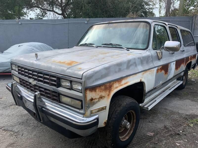 1989 Chevrolet Suburban for sale at Solares Auto Sales in Miami FL