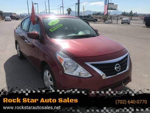 2015 Nissan Versa for sale at Rock Star Auto Sales in Las Vegas NV