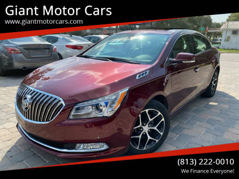 2016 Buick LaCrosse for sale at Giant Motor Cars in Tampa FL