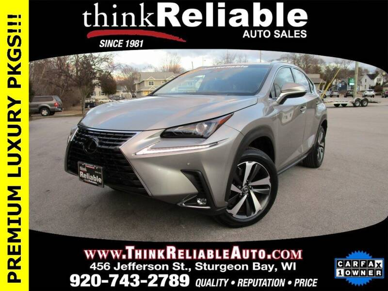 2018 Lexus NX 300 for sale at RELIABLE AUTOMOBILE SALES, INC in Sturgeon Bay WI
