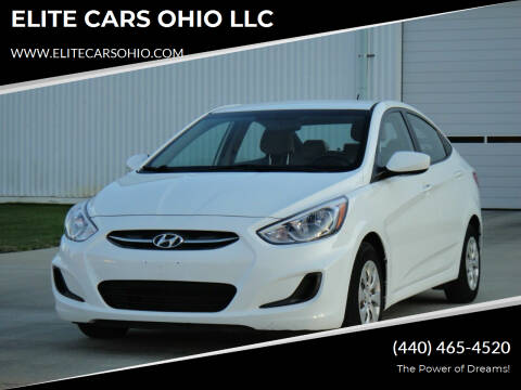 2016 Hyundai Accent for sale at ELITE CARS OHIO LLC in Solon OH