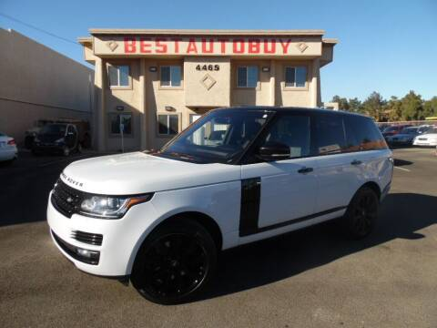 2016 Land Rover Range Rover for sale at Best Auto Buy in Las Vegas NV