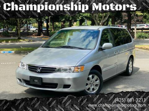 2002 Honda Odyssey for sale at Championship Motors in Redmond WA