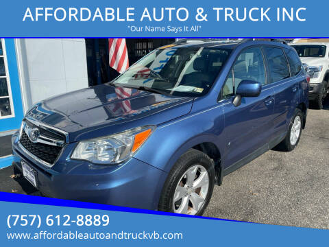 2015 Subaru Forester for sale at AFFORDABLE AUTO & TRUCK INC in Virginia Beach VA