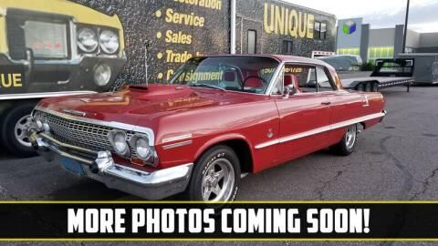 1963 Chevrolet Impala for sale at UNIQUE SPECIALTY & CLASSICS in Mankato MN
