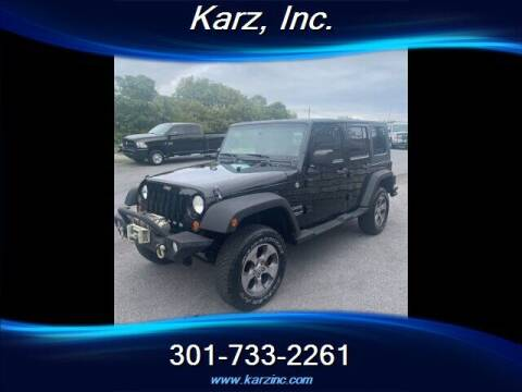 2010 Jeep Wrangler Unlimited for sale at Karz INC in Funkstown MD
