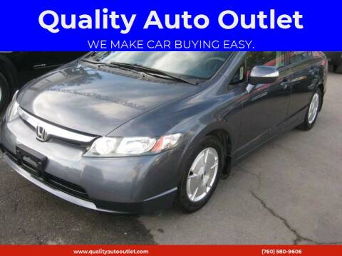 2008 Honda Civic for sale at Quality Auto Outlet in Vista CA
