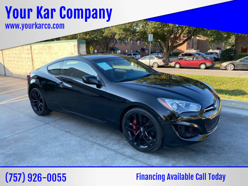 2013 Hyundai Genesis Coupe for sale at Your Kar Company in Norfolk VA