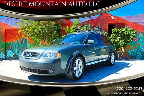 2002 Audi Allroad for sale at DESERT MOUNTAIN AUTO LLC in Tucson AZ