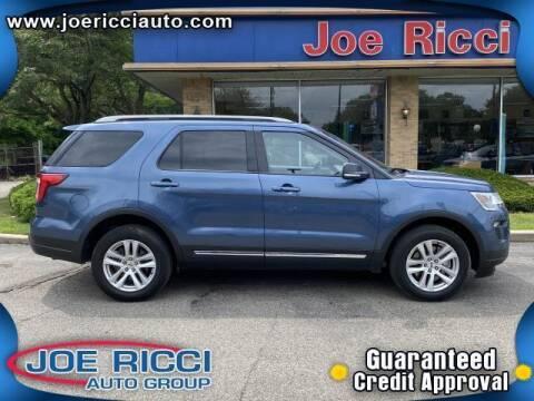 2018 Ford Explorer for sale at JOE RICCI AUTOMOTIVE in Clinton Township MI