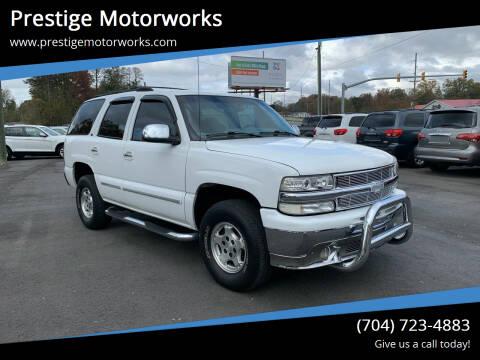 2001 Chevrolet Tahoe for sale at Prestige Motorworks in Concord NC
