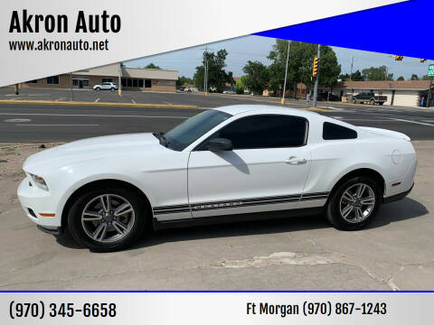 2011 Ford Mustang for sale at Akron Auto - Fort Morgan in Fort Morgan CO