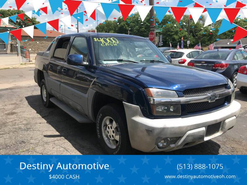 2002 Chevrolet Avalanche for sale at DestanY AUTOMOTIVE in Hamilton OH