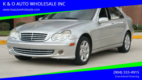 2005 Mercedes-Benz C-Class for sale at K & O AUTO WHOLESALE INC in Jacksonville FL