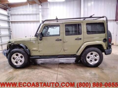 2013 Jeep Wrangler Unlimited for sale at East Coast Auto Source Inc. in Bedford VA