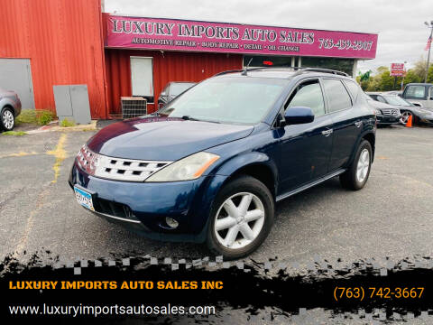 2005 Nissan Murano for sale at LUXURY IMPORTS AUTO SALES INC in North Branch MN